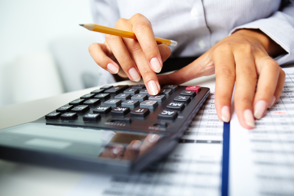 assessing the situation with a calculator