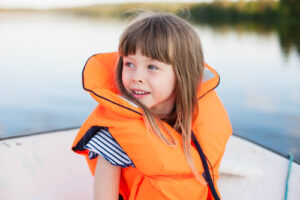 child in a life jacket