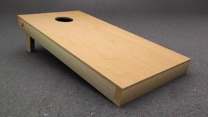 a plane cornhole board