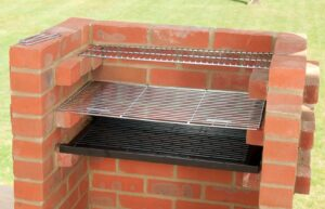 home made brick grill barbecue