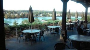 lakeside tavern patio by lake