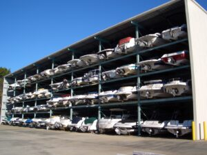 indoor boat rack storage
