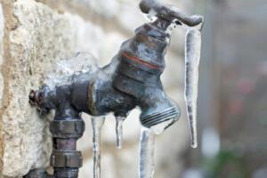 frozen hose faucet