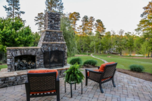 Lake Sinclair Outdoor Fireplace