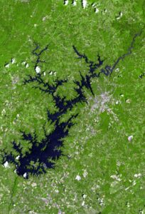 Lake lanier satellite map