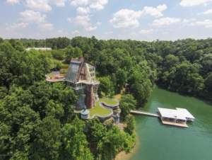 Aerial View of the Smith Lake Castle