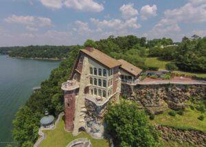 aerial view of The Castle on Smith Lake