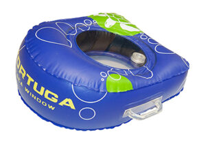 Tortuga green and blue sea window floatie