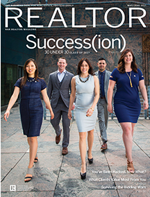Realtor Magazine cover featuring Success(ion) title
