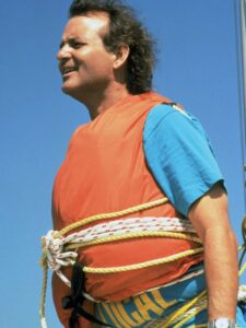 Bill Murray in orange life vest