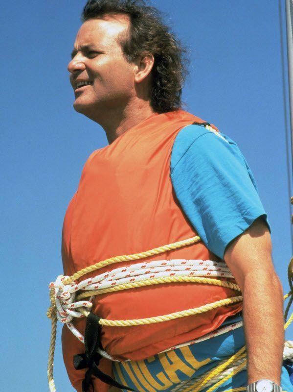 Bill Murray in orange life vest