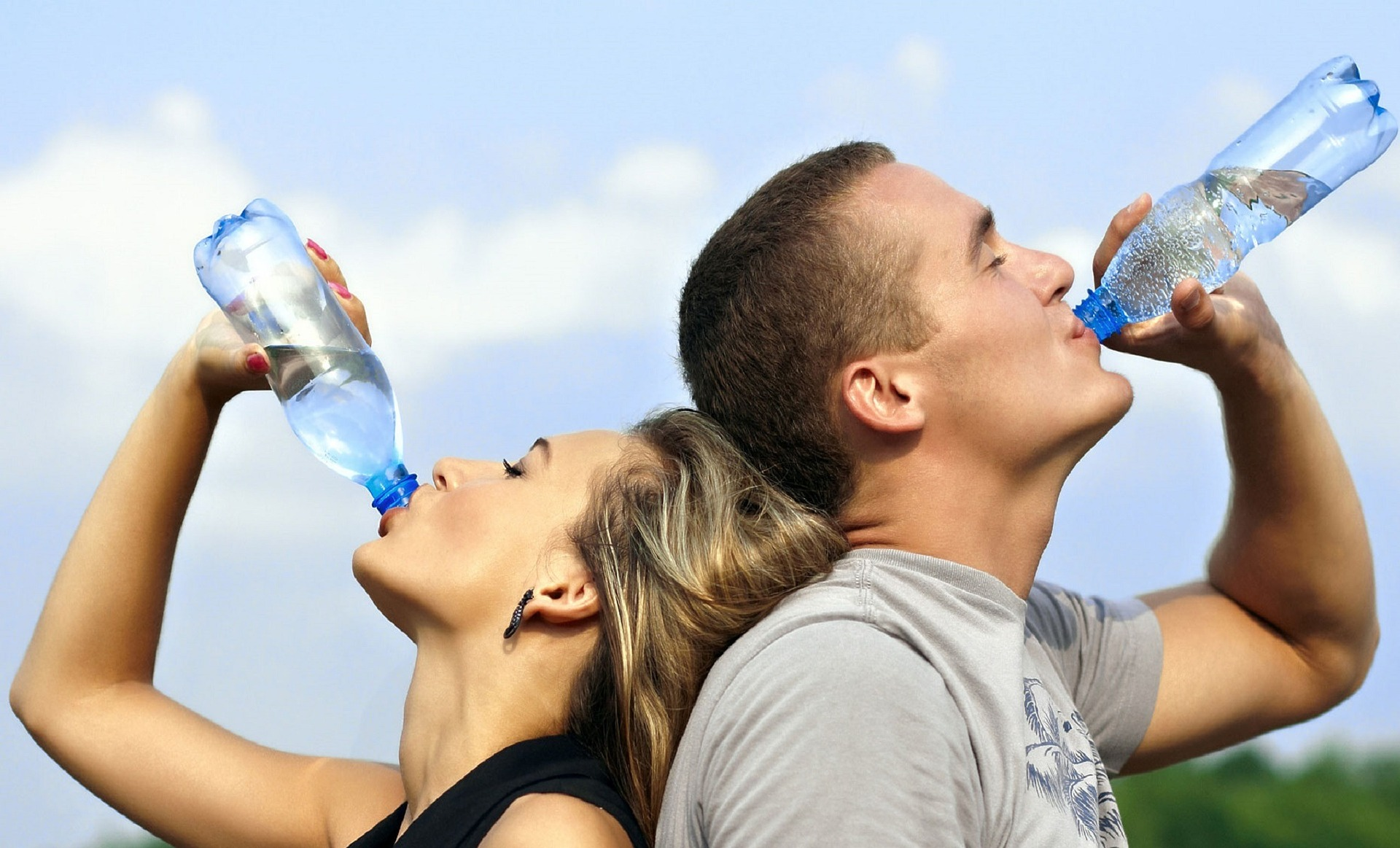 people drinking water