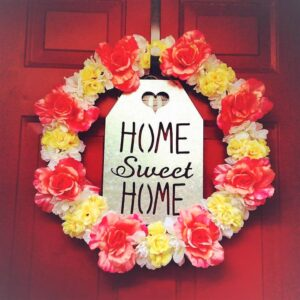 Floral Wreath with Sign