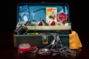 Fishing in the winter requires a properly stocked tackle box
