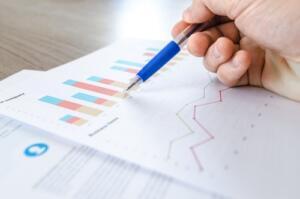 person analyzing market data