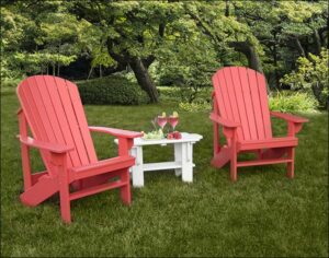 Adirondack chairs in Living Coral