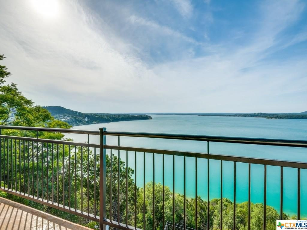 Overlooking Canyon Lake from lake home balcony