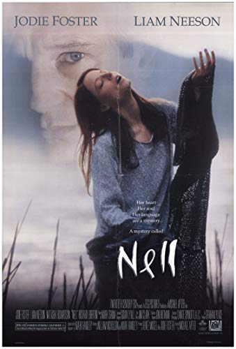 Nell Movie Poster, filmed on movie lake Fontana Lake, C=Nc