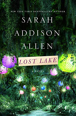 "Forest with twinkly lights - The cover of lake-centric story ""Lost Lake"""