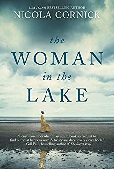 "Woman on beach, book cover of ""The Woman in the Lake"""