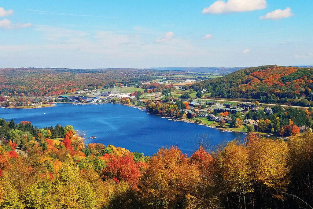 Deep Creek Lake in Maryland during the fall