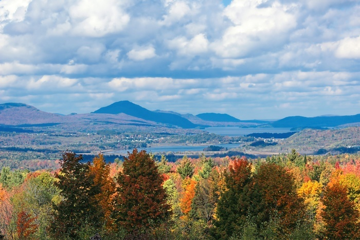 Lake Memphremagog in Vermont during the fall