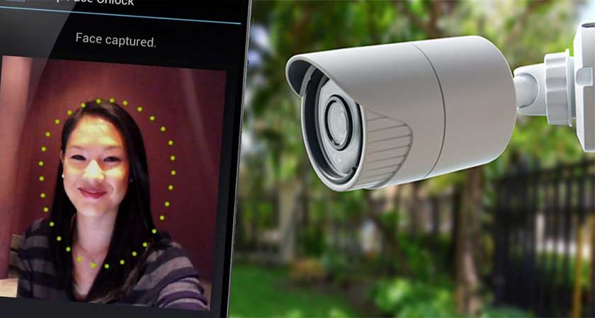 Facial recognition security camera by Google