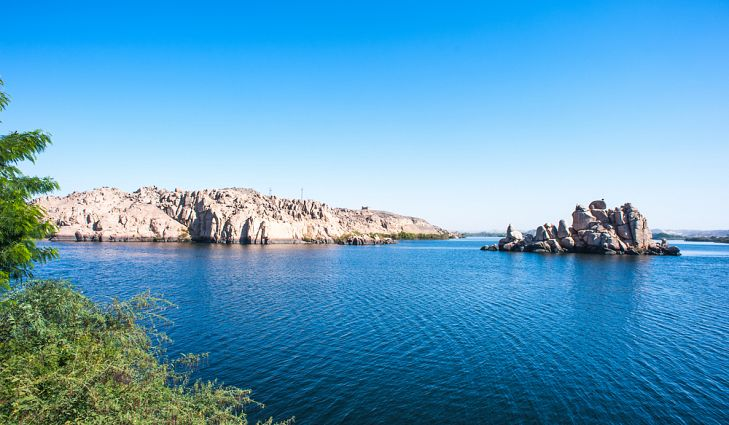 serene lake nasser during the day