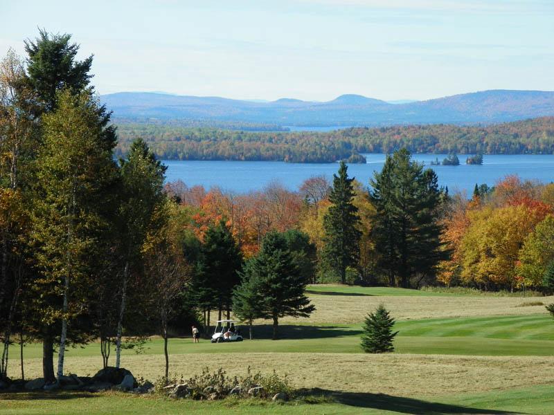 Mingo Springs golf course Rangeley Lake during fall autumn