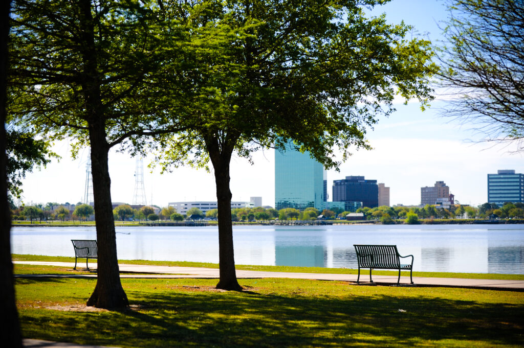 Creole Nature Trail in Lake Charles during the day with view