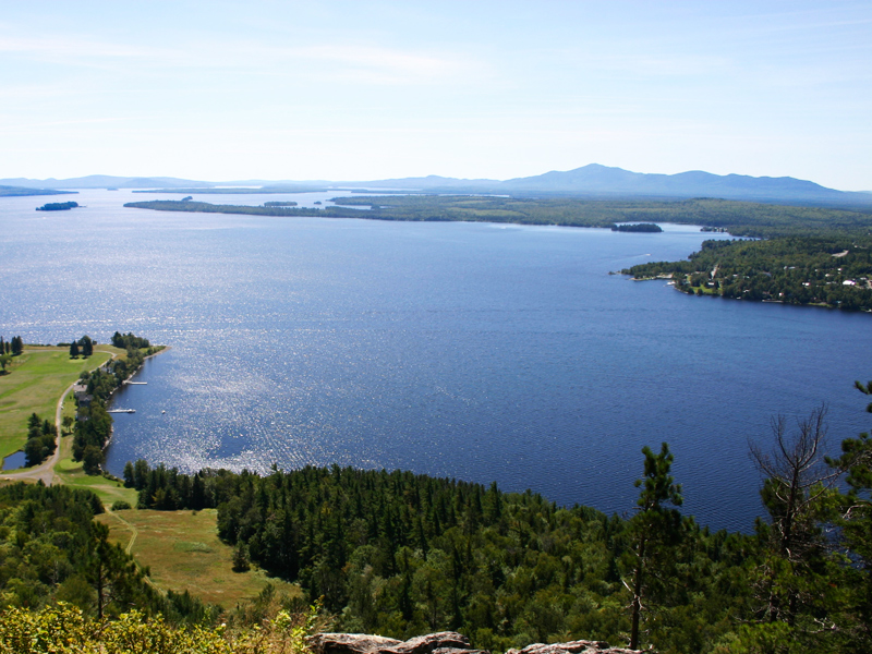 Moosehead Lake Aerial View during summer
