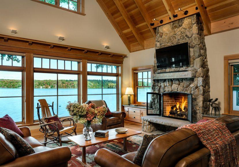 Cozy fireplace living room