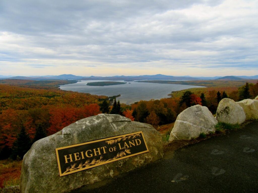 Height of Land monument history of Rangeley Lake
