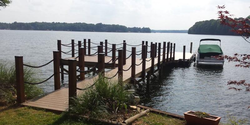 Lake house dock repair