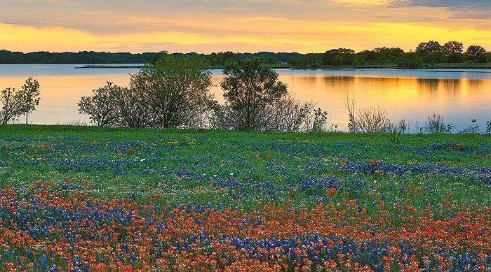 Lake LBJ colorful during sunset