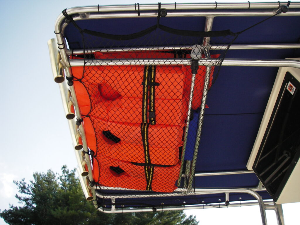 Storing lifejackets personal flotation device on boat