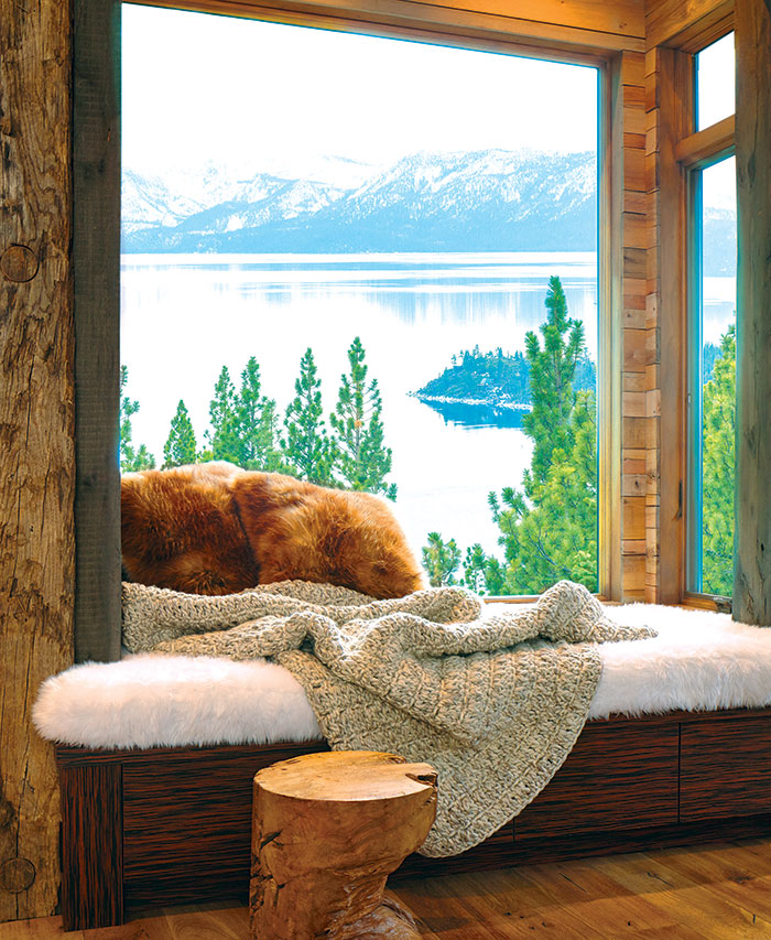 hygge nook in Incline Village, Nevada lake home