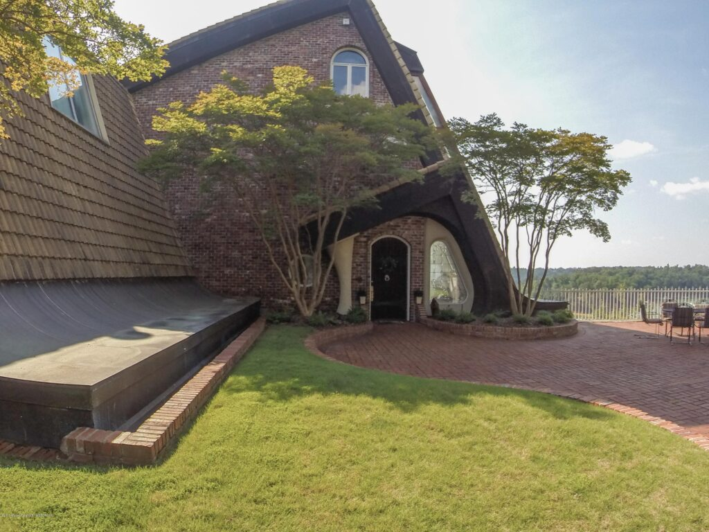 Storybook architecture on dream home on Lewis Smith Lake, Alabama