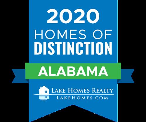 2020 Homes of Distinction Badge - Alabama - Lake Homes Realty