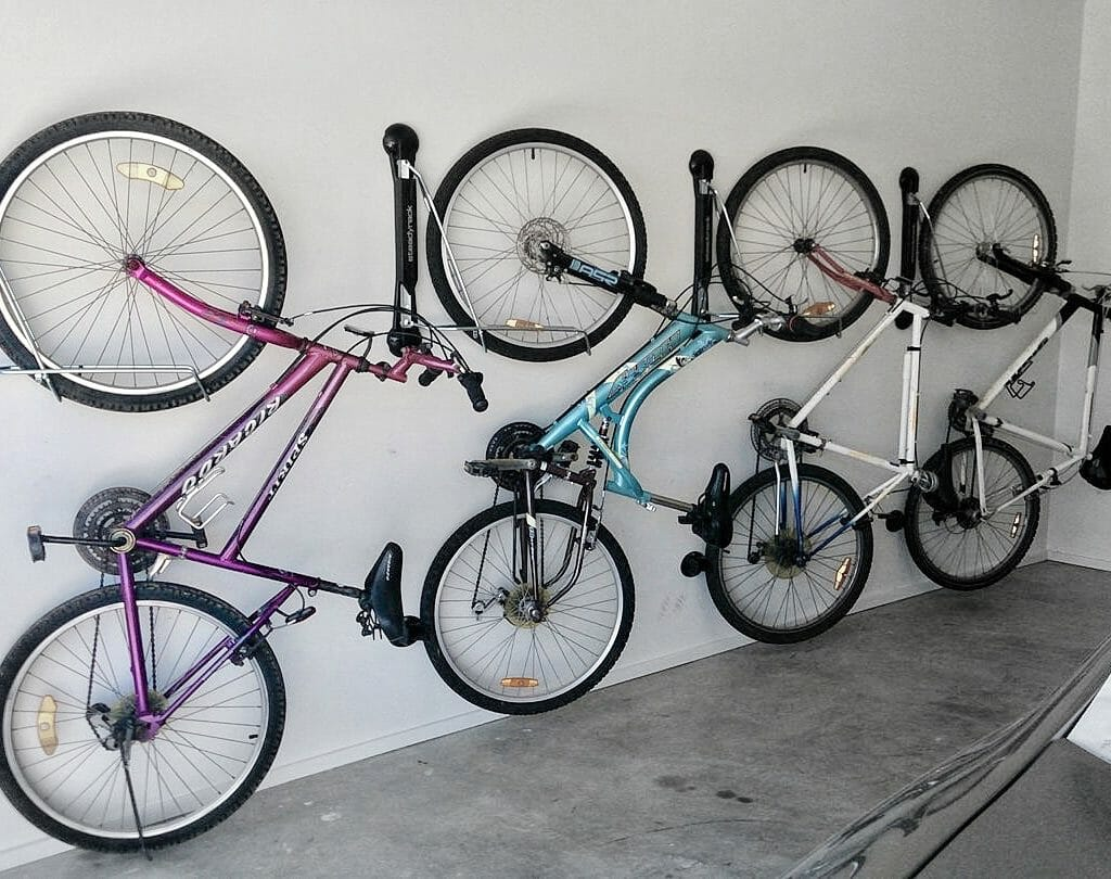 Bicycle garage storage