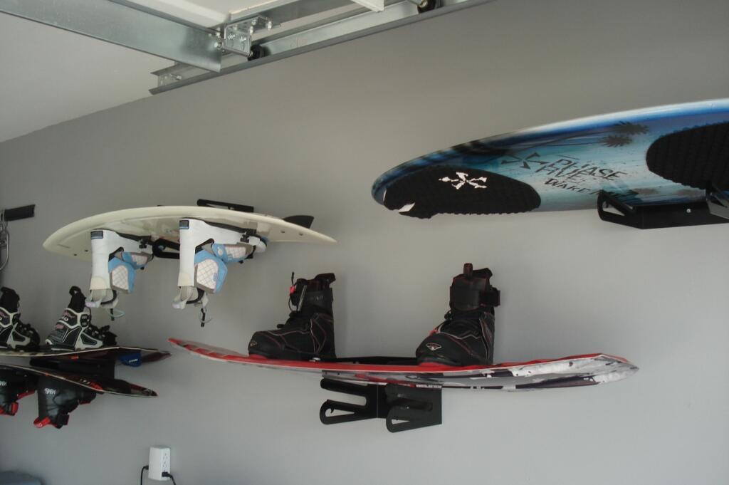 Wakeboard lake gear garage storage