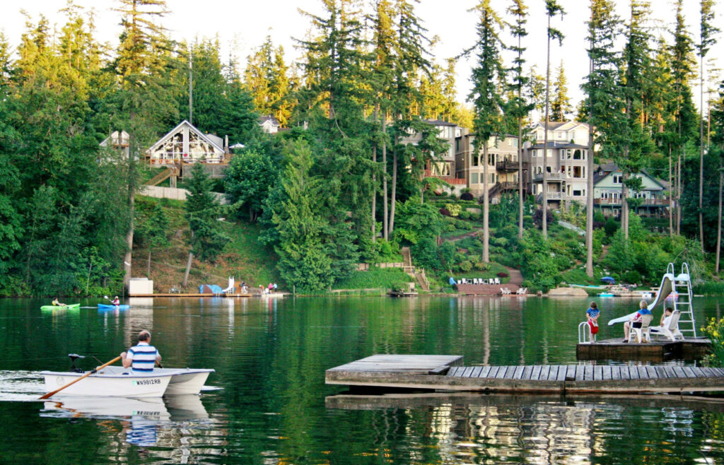 Sense of community at the lake living on the water
