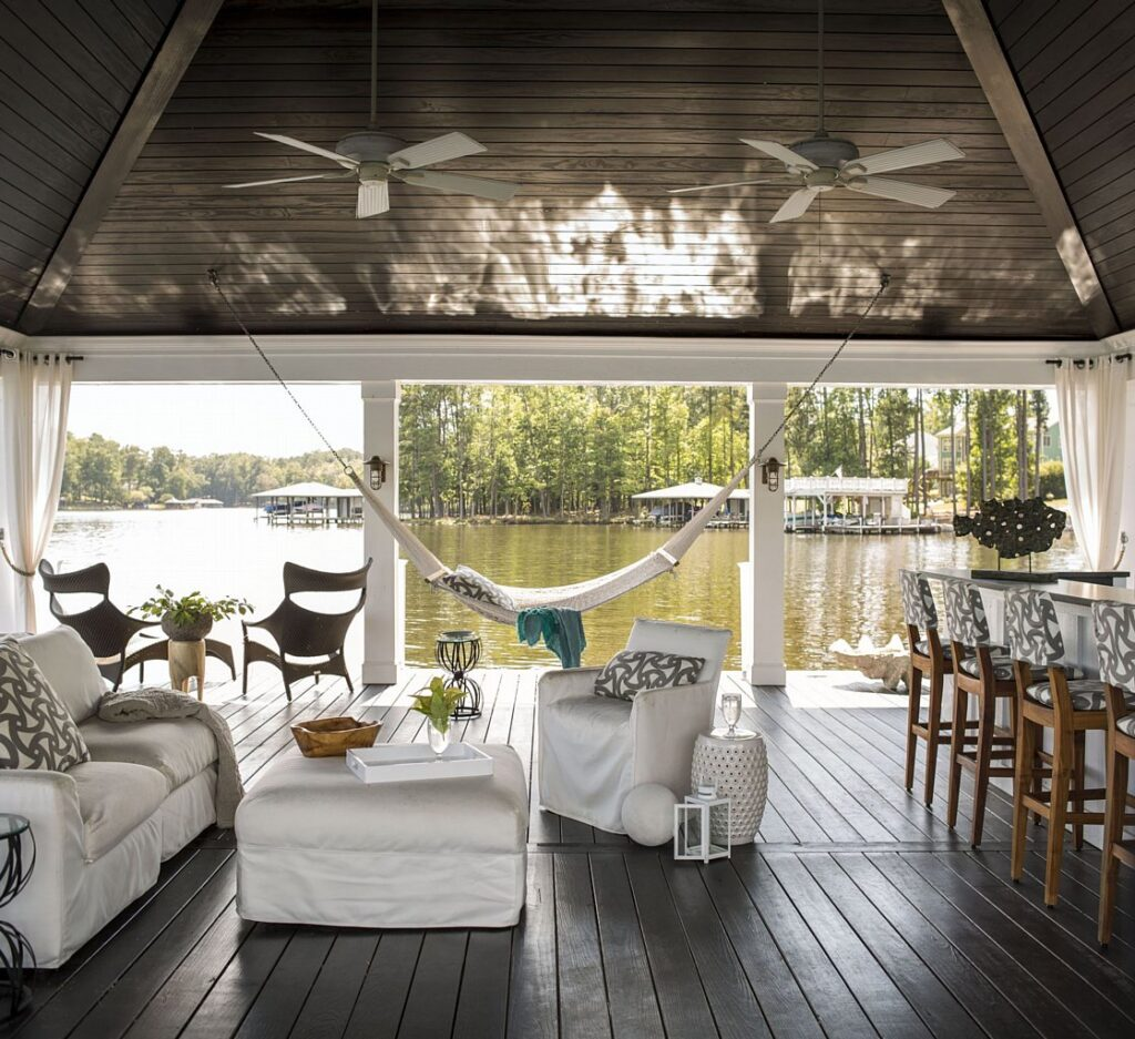 lake house boat house - outdoor furniture decor inspiration