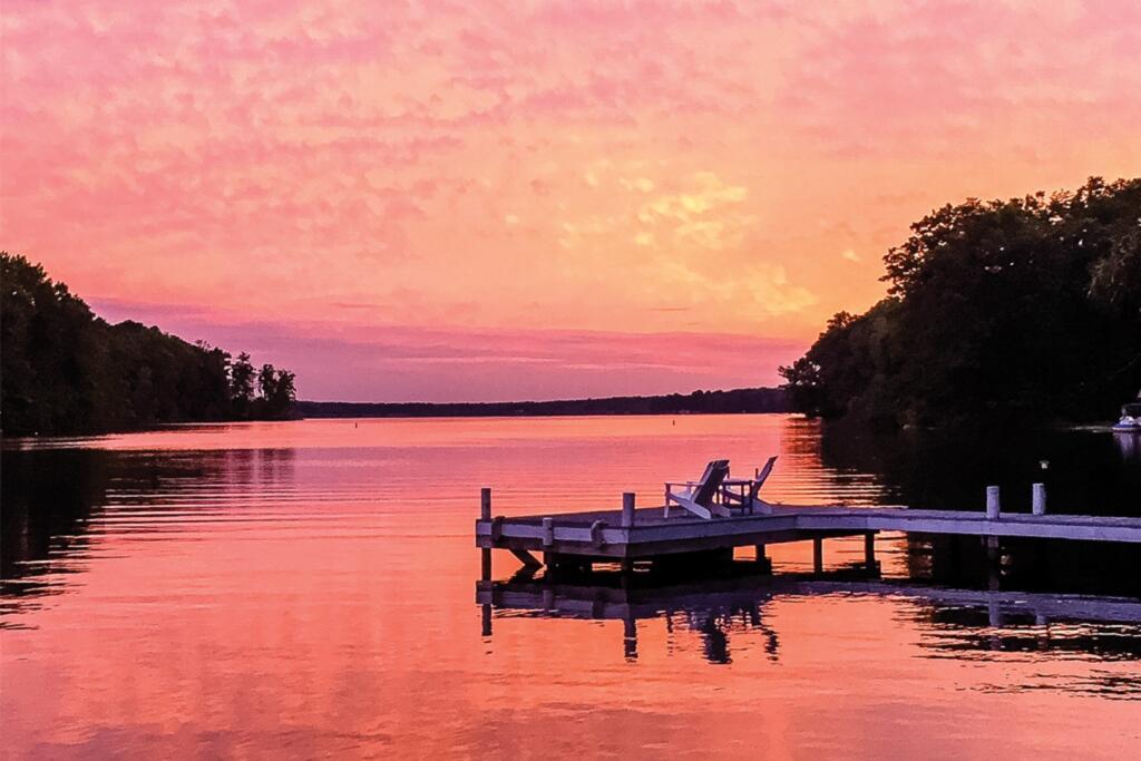 Lake Anna, Virginia during sunset