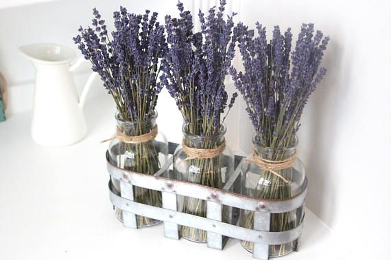 lavender stems arrangement tips diy - lake house decorating ideas