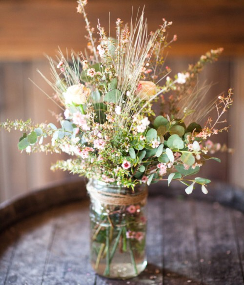 dried florals wedding bouquet living room decor - lake house decorating ideas